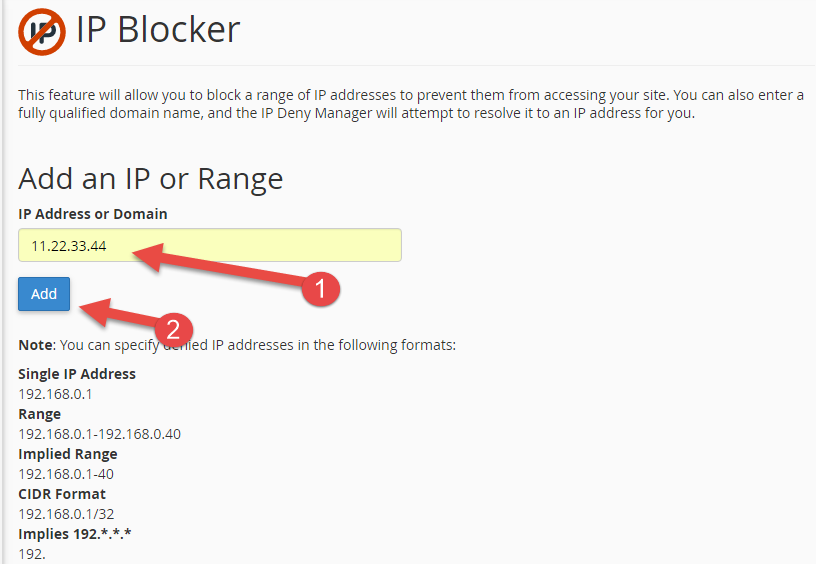 IP address is now blocked