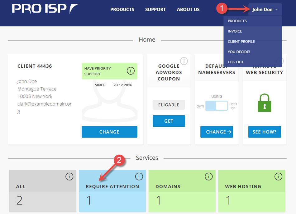 PRO ISP kundeside