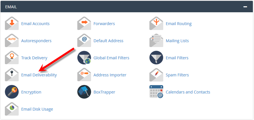 Email Deliverability email in cPanel