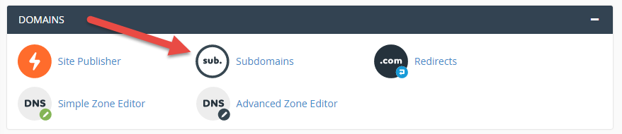 Create subdomains in cPanel