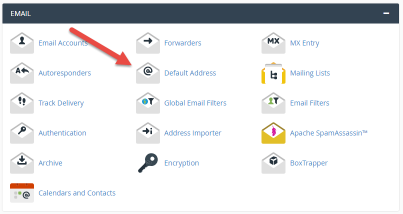 Select a Default Address in cPanel