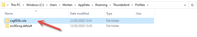 Copy profile folder to another location for backup