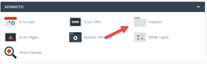 Indexes in cPanel