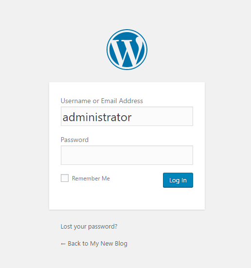 Page 2 of browser installation of Wordpress