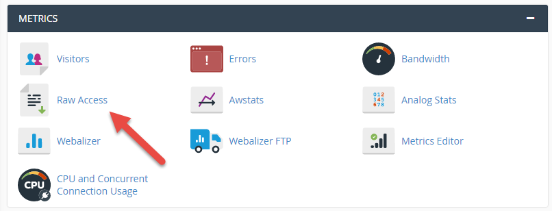 Raw Access Log in cPanel