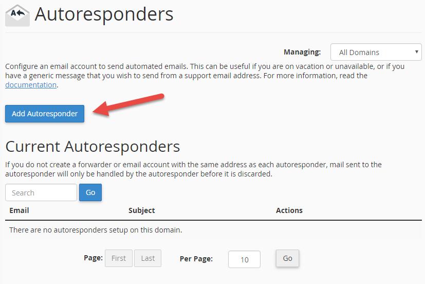 Press Add Auto-responder