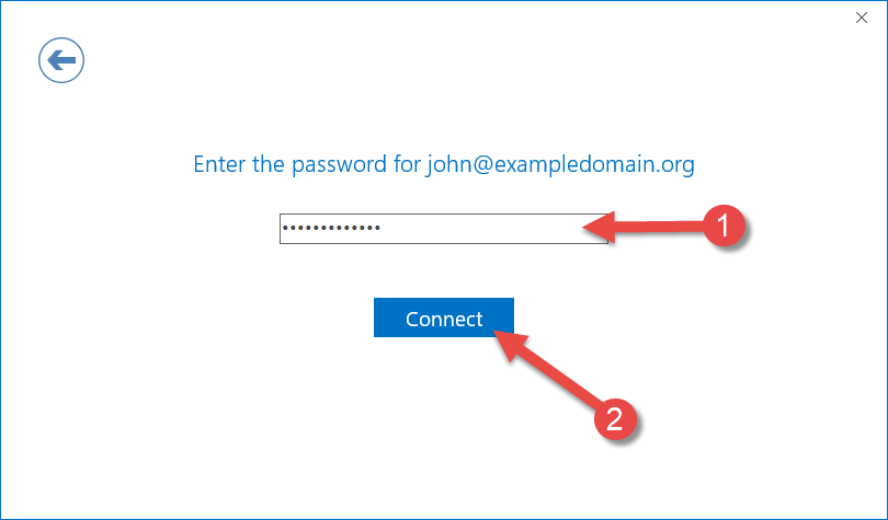 Password for your email account