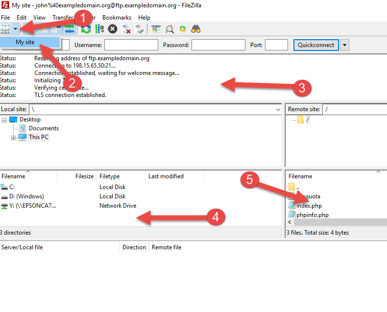 Setup An FTP Account In FileZilla