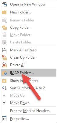 Select IMAP folders
