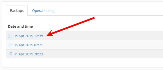 Backup dato