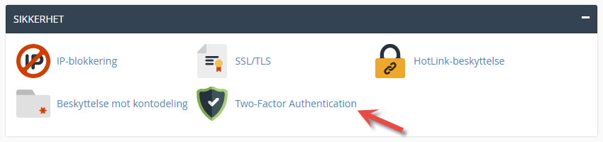 Two-Factor authentication in cPanel