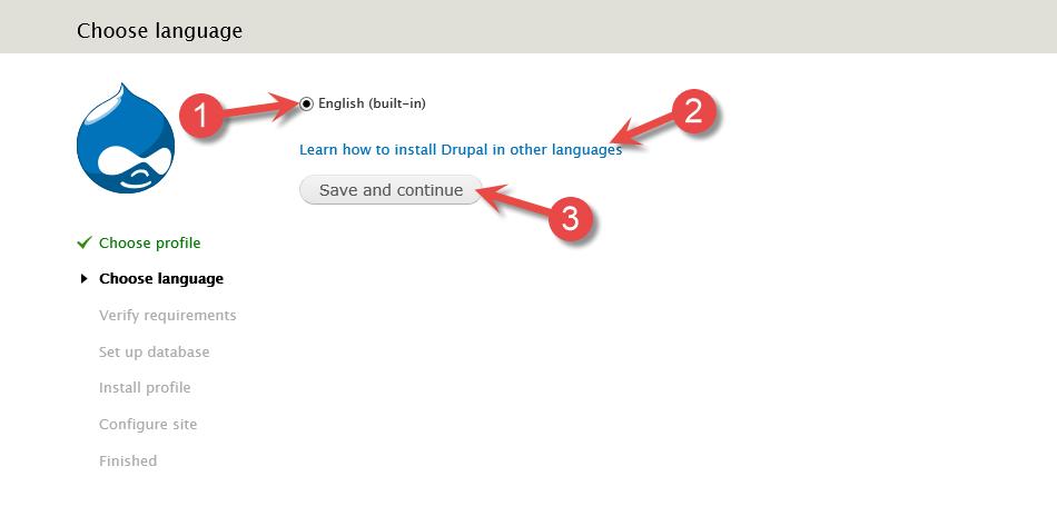 Velg språk - Drupal