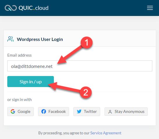 Opprette brukerkonto hos QC
