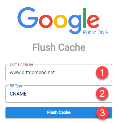 Tøm DNS cache hos Google