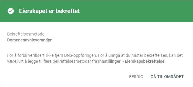 47f1884f2 Hvordan verifiserer jeg domenenavnet hos Google? - PRO ISP