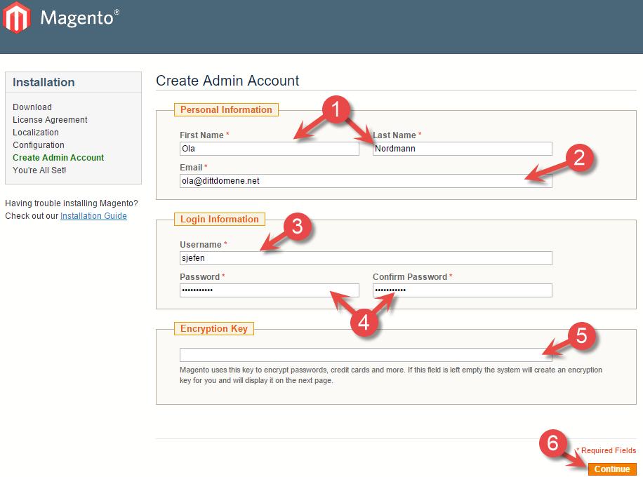 Create Admin Acount