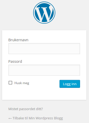 WordPress administrator login side