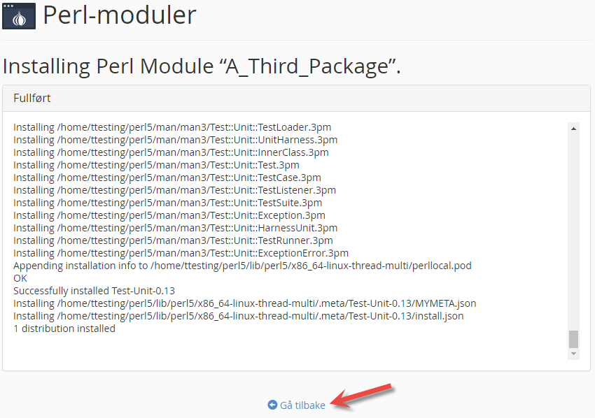 Log og Perl module installation