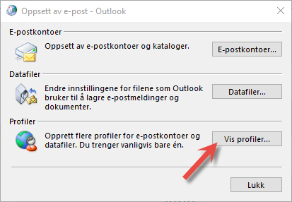 Vis profiler Outlook