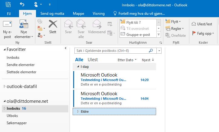 Oppsett Av E Postkonto I Microsoft Outlook 2013 2016 Pro Isp