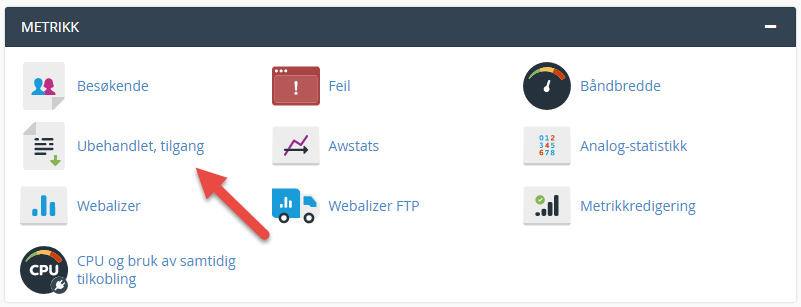 Rå access log i cPanel